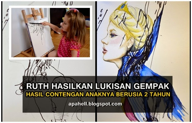 Video : Ibu Hasilkan Lukisan Menarik Hasil Contengan Anak (7 Gambar)