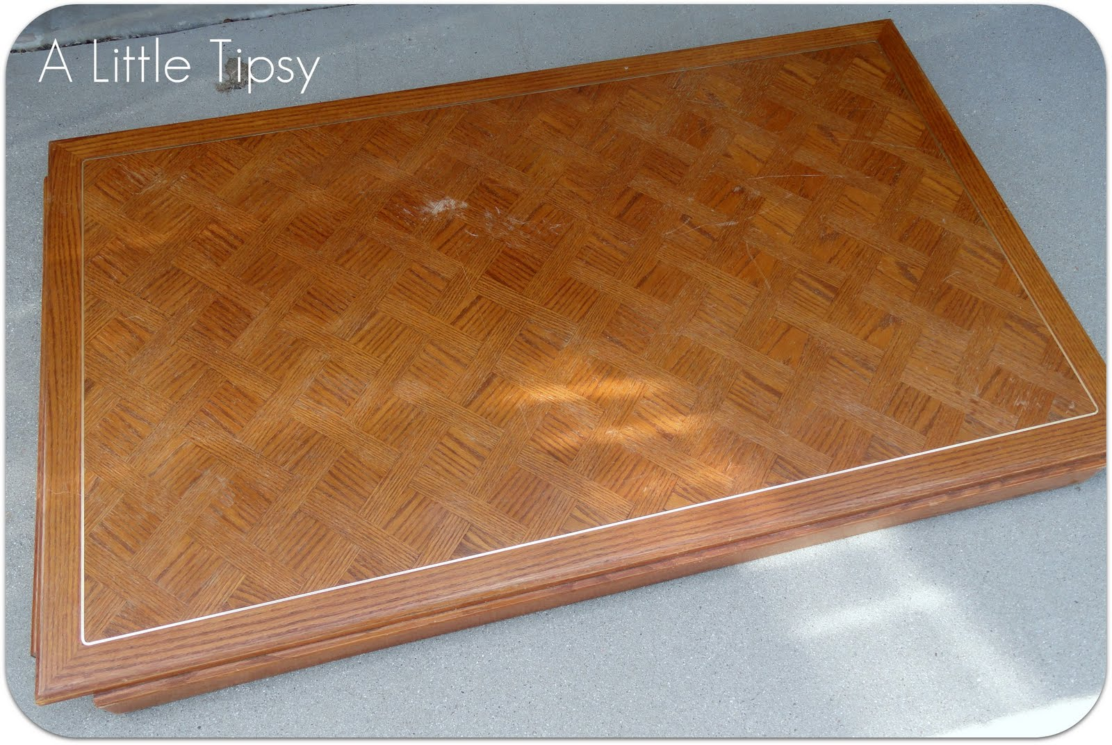 A Little Tipsy: Game Table featuring Krylon Dual Paint