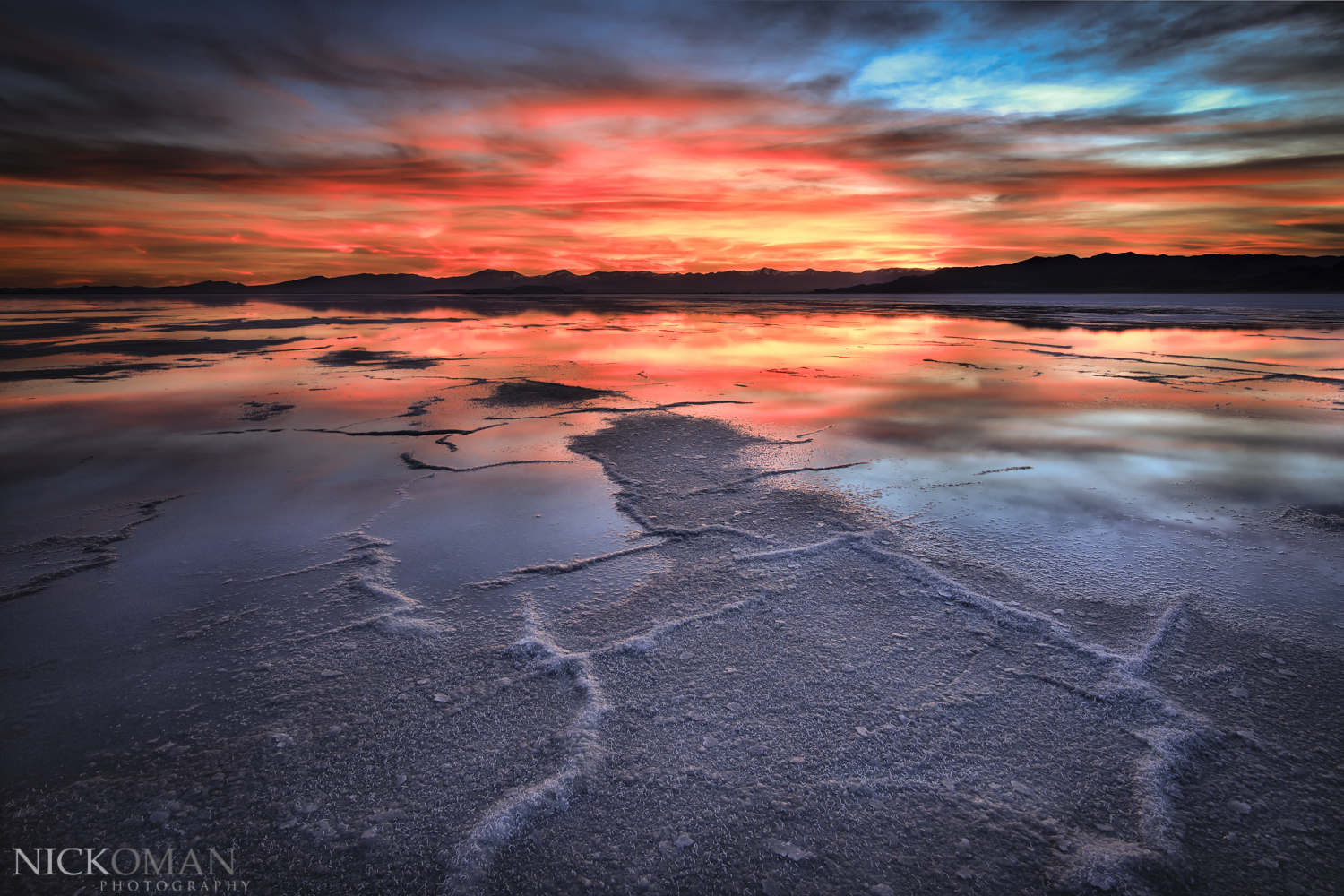 Bonneville Salt Flats by Nick Oman Photography.