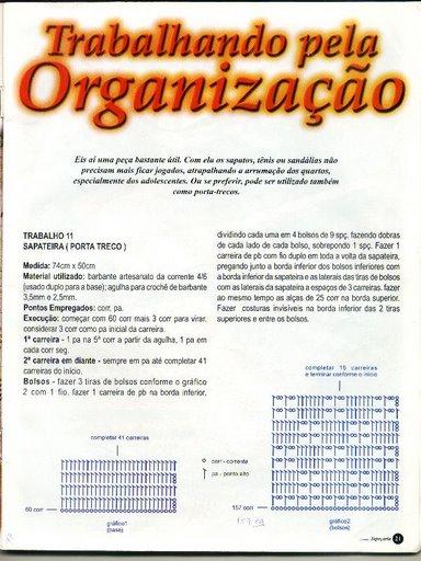 Organizador De Baño A Crochet:patrones asgaya: ORGANIZADOR PARA EL BAÑO