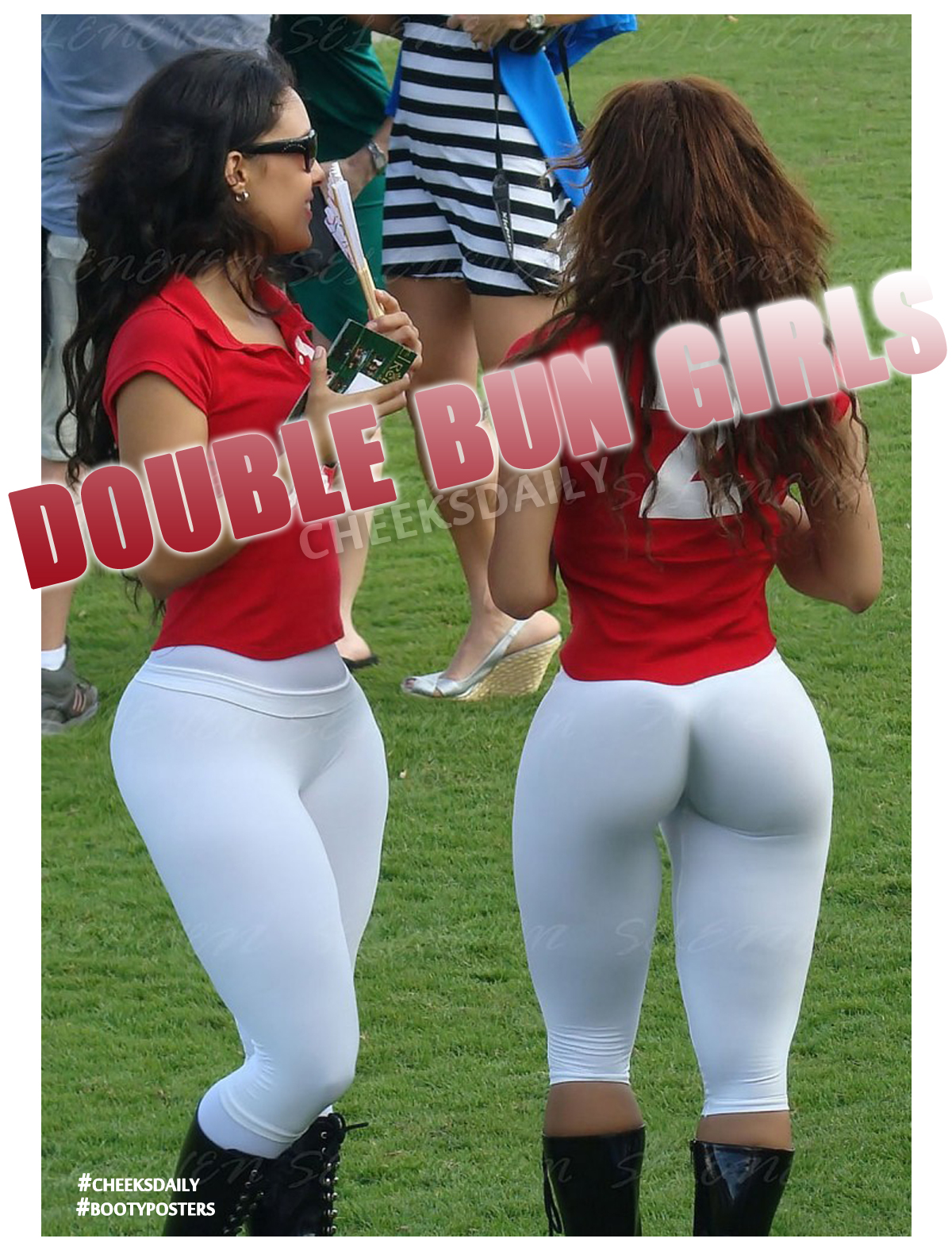 bootyposters by cheeksdaily - double bun cricket girls