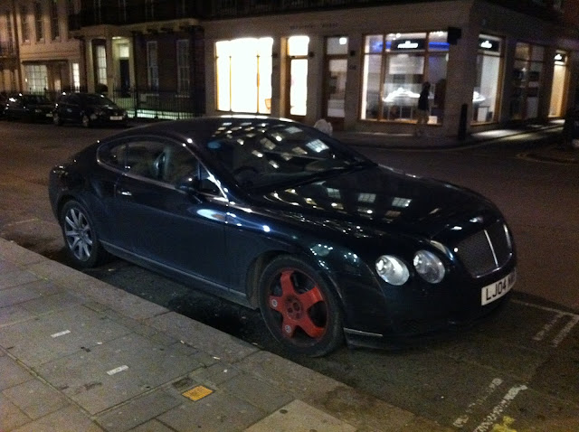 Bentley GT flat tyre tire run flat space saver