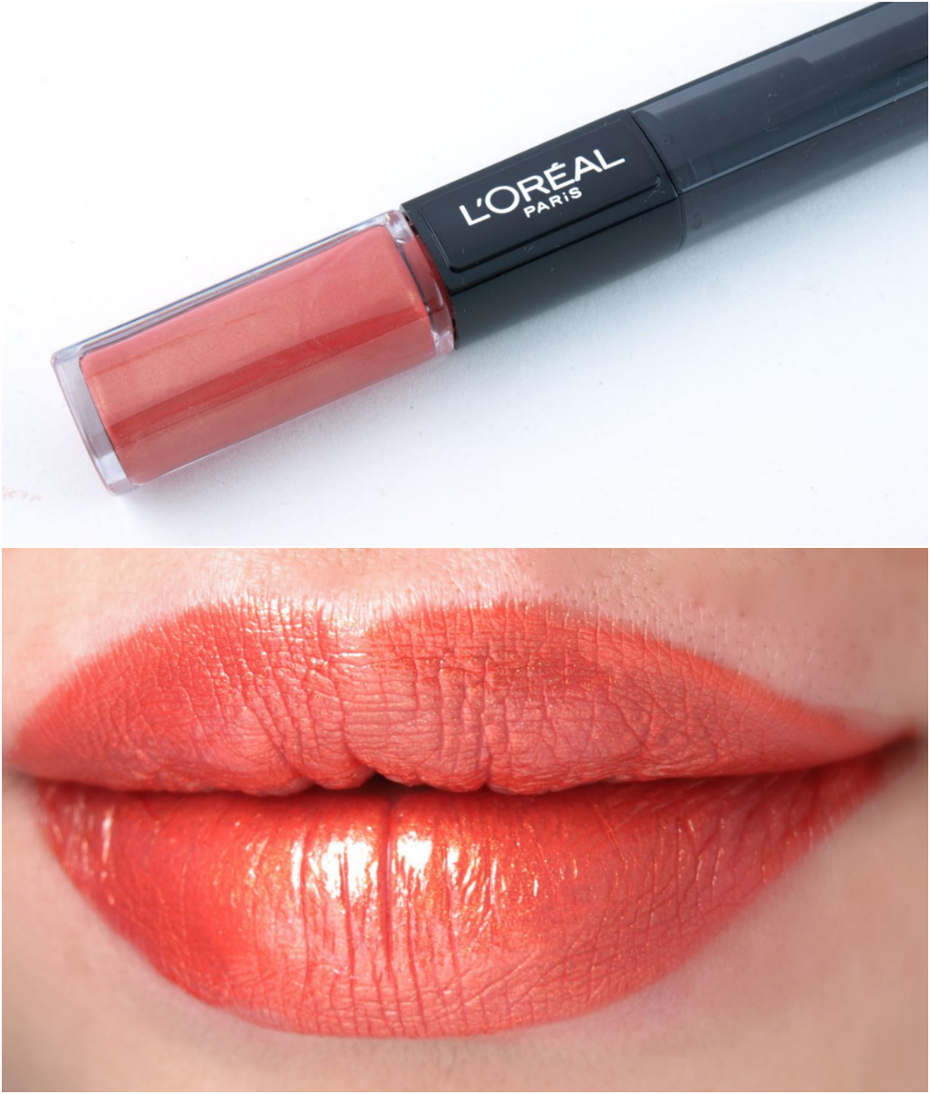 L'Oreal Infallible 2-Step Lipcolor: Review and Swatches Perpetual Apricot