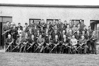 Bettystown gathering of pipers in 1968.