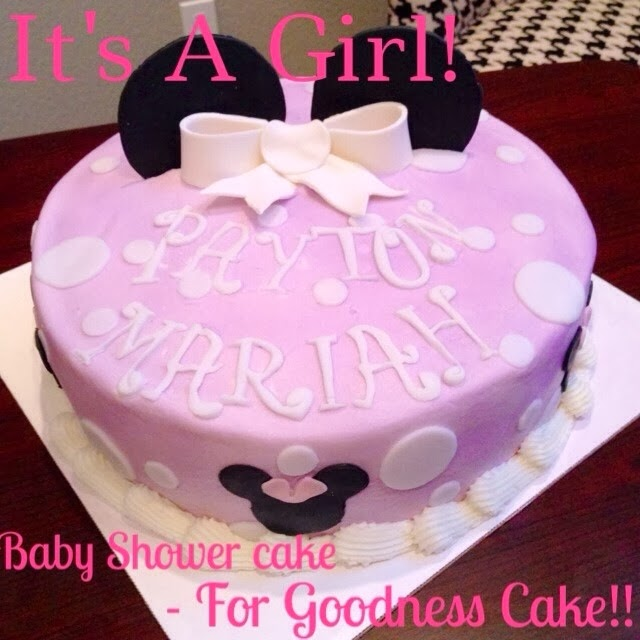 for goodness cake baby shower minnie mouse cake