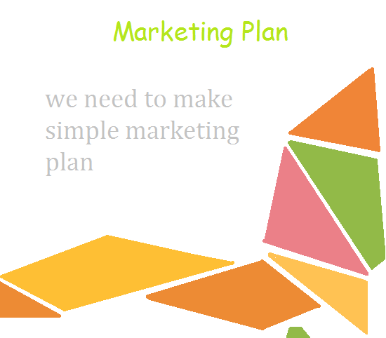 we need to make simple marketing plan