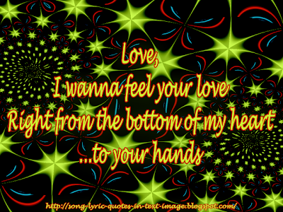 Feel Your Love - Alanis Morissette Song Lyric Quote in Text Image