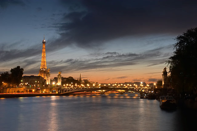 River Seine at Night, Paris