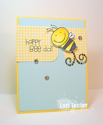 Happy Bee-Day card-designed by Lori Tecler/Inking Aloud-stamps from Paper Smooches