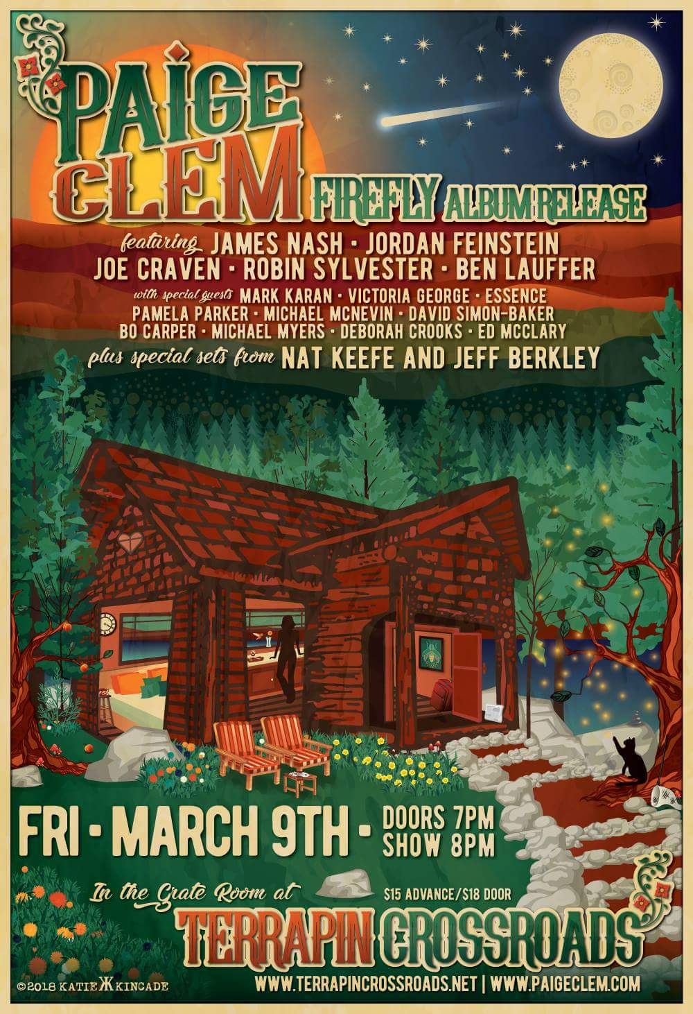 3/9 : Paige Clem Firefly Album Release