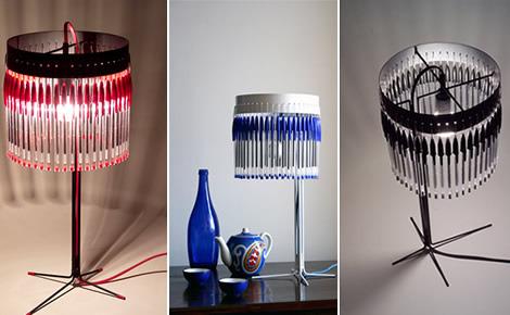 Detr s de mi puerta lamparas recicladas - Lamparas originales recicladas ...