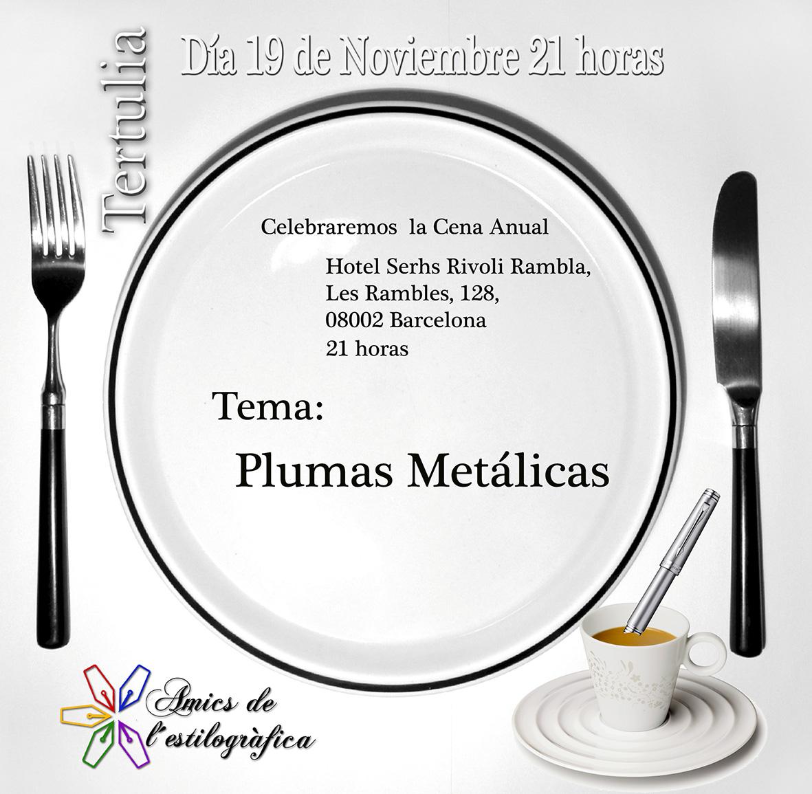 37 TERTULIA 19 DE NOVIEMBRE (PLUMAS METALICAS) 2015