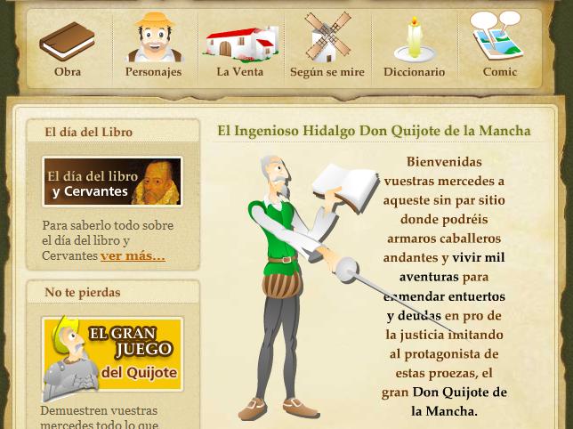 Aprendemos con Don Quijote
