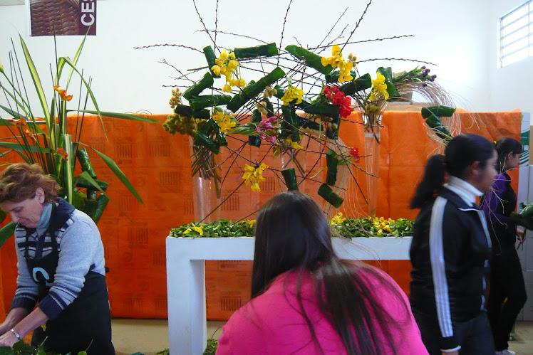 Curso de Arte Floral na Loja Albano com Marcio Soares.