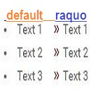 How To Change Automatic raquo UL LI Being with CSS