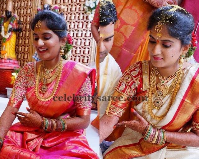 Bride in Elbow Length Work Blouses