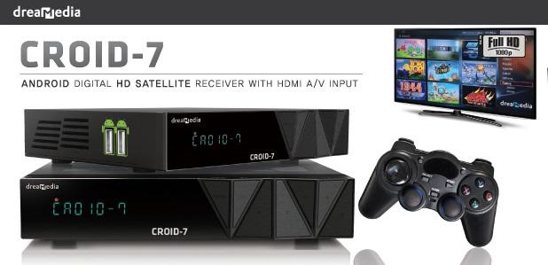 NOVA ATUALIZAÇÃO DREAMEDIA CROID 7 HD IPTV - 30/10/2015