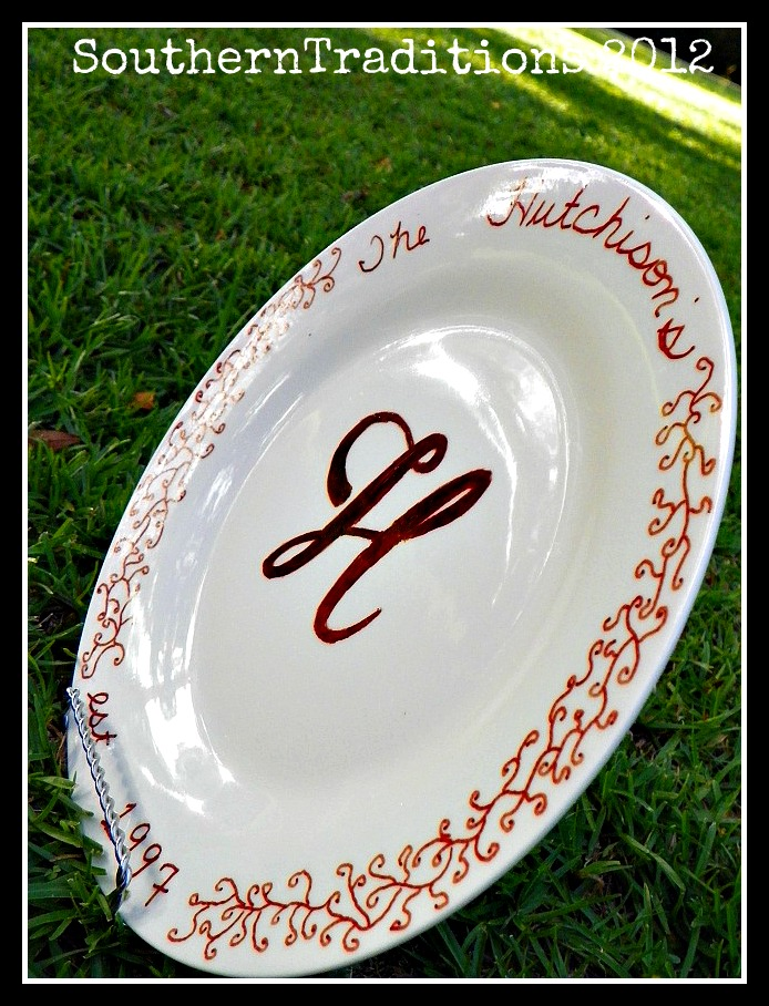 Southern Traditions Boutique Make your own plates ~ Another Dollar store craft & Southern Traditions Boutique: Make your own plates ~ Another Dollar ...