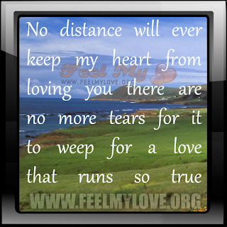 No distance will ever keep my heart from loving you