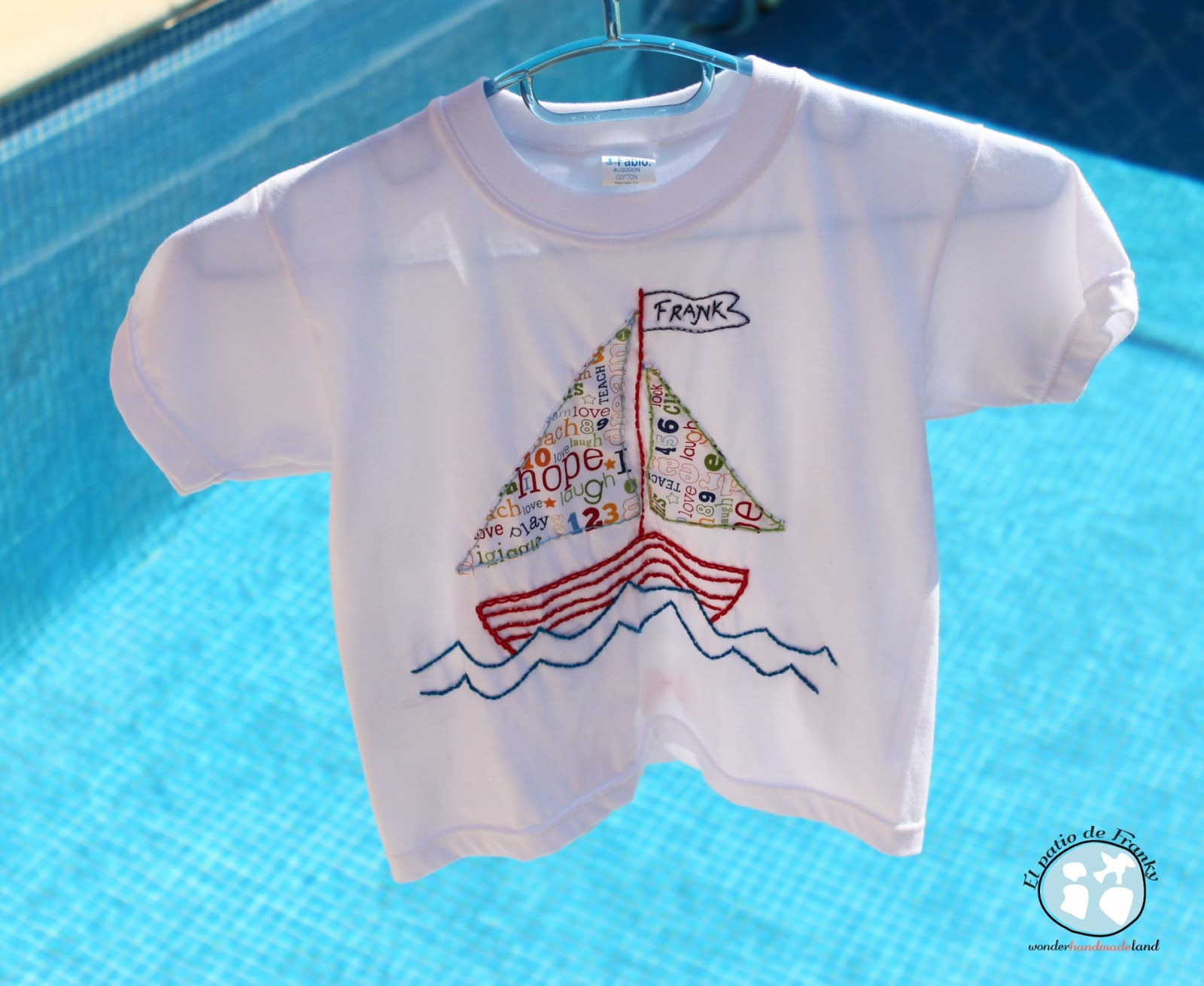 Camiseta marinera bordada
