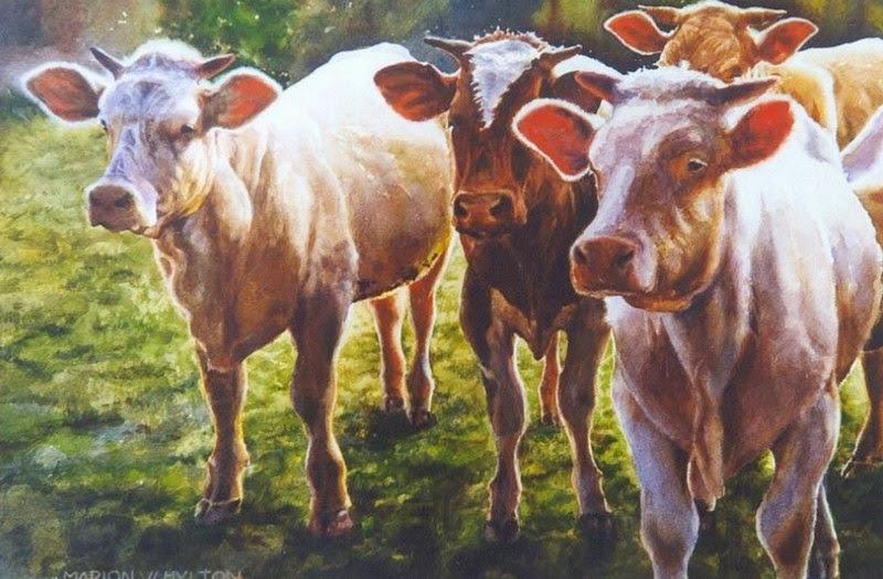 Im genes arte pinturas im genes de cuadros realistas de - Cuadros de vacas ...