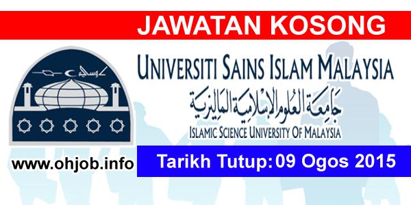 Jawatan Kerja Kosong Universiti Sains Islam Malaysia (USIM) logo www.ohjob.info ogos 2015