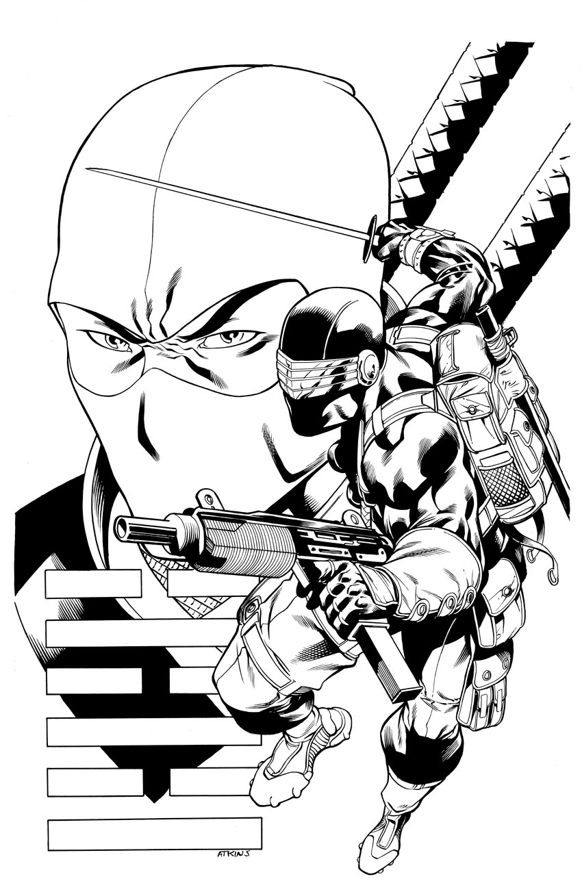 snake eyes and storm shadow robert atkins art