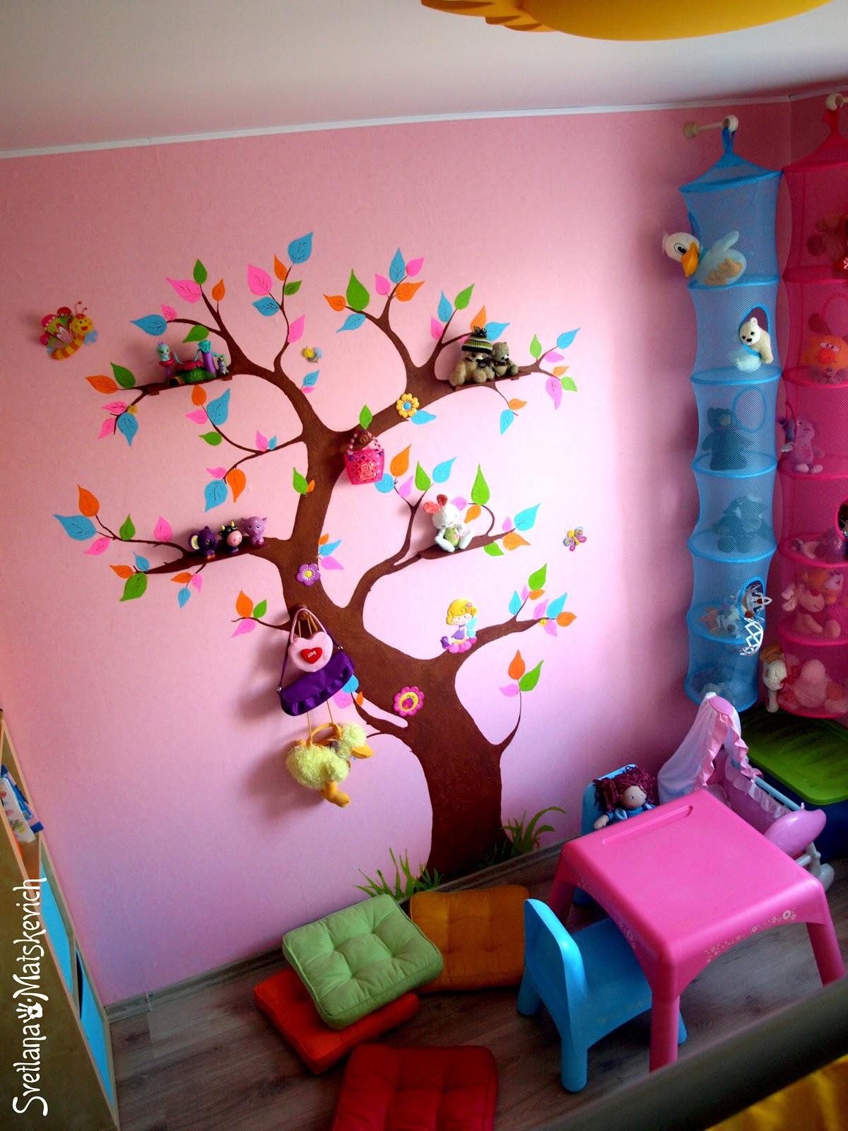 Как разукрасить детскую комнату своими руками 33