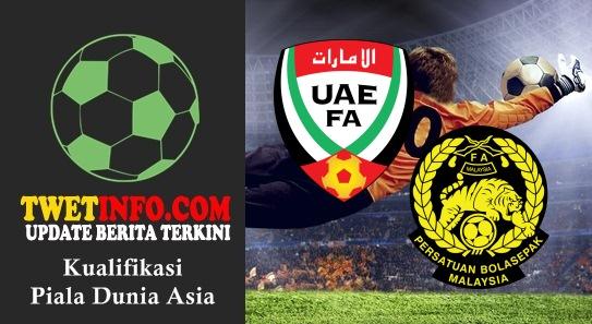 Prediksi UAE vs Malaysia, Piala Dunia Asia 03-09-2015