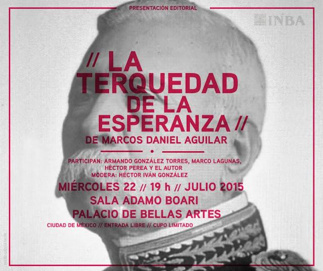 """Presentan ensayo """"La terquedad de la esperanza"""" en el Palacio de Bellas Artes"""