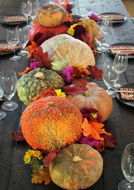 thanksgiving pumpkin centerpieces
