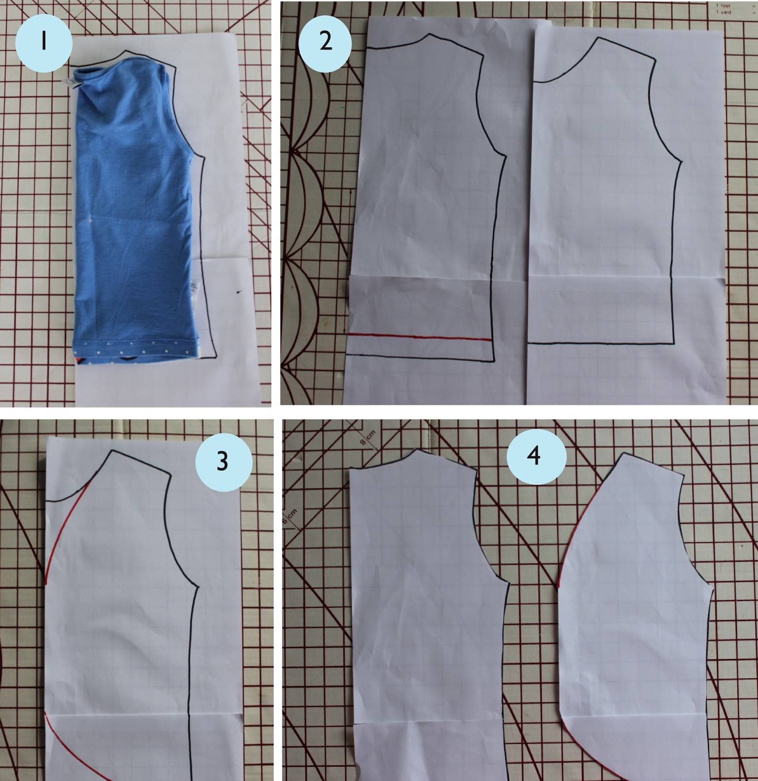 How to use tracing paper for sewing
