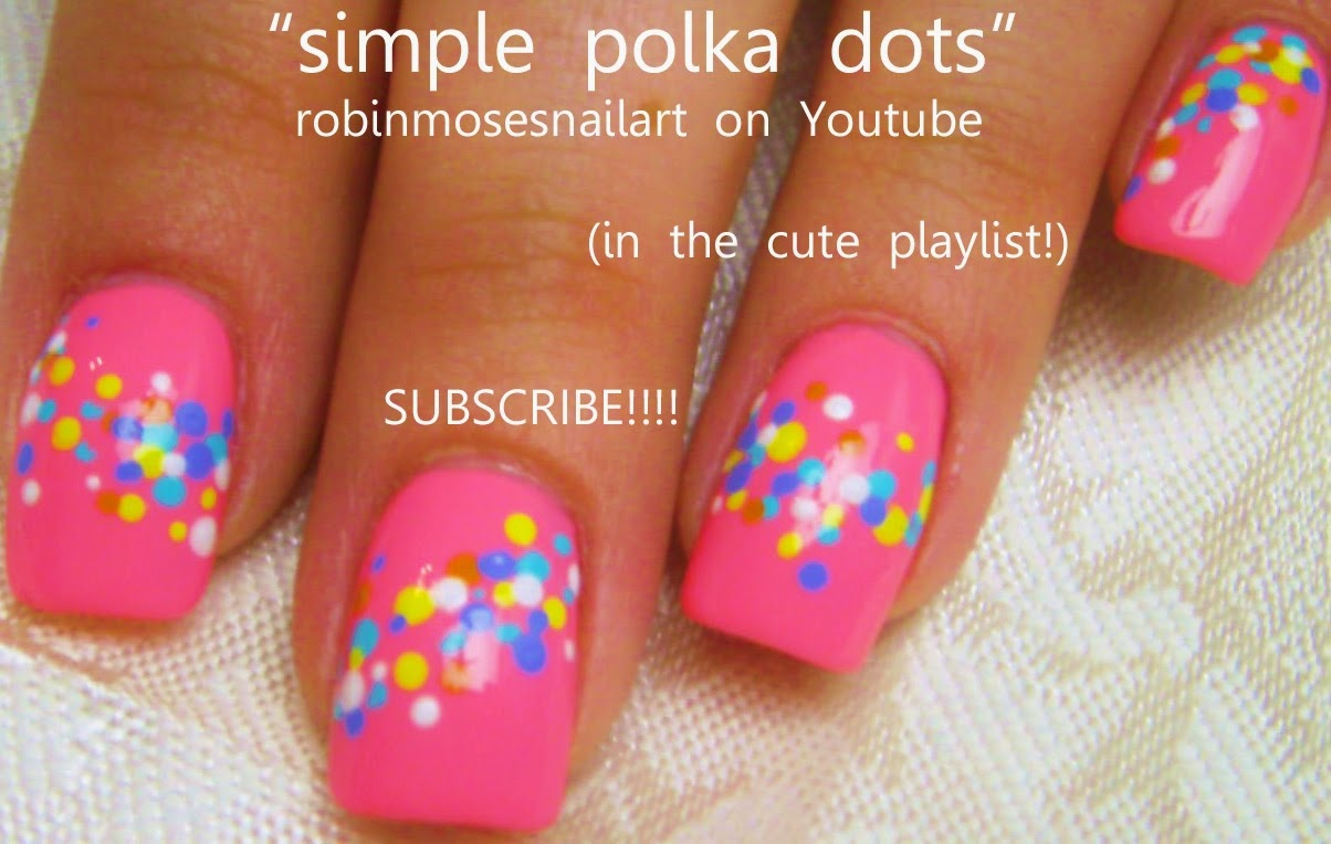 Stripes and Polka Dot Nail Designs