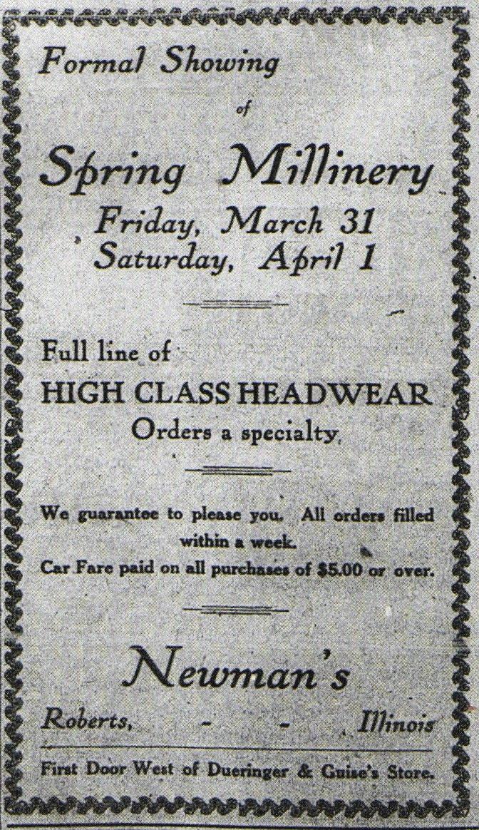 Newman's 1911 Ad