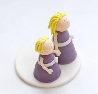Poročna figurica - sestrici