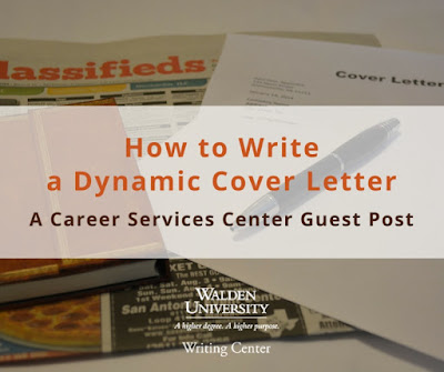 How  to Write a Dynamic Cover Letter | Walden University Writing Center Blog