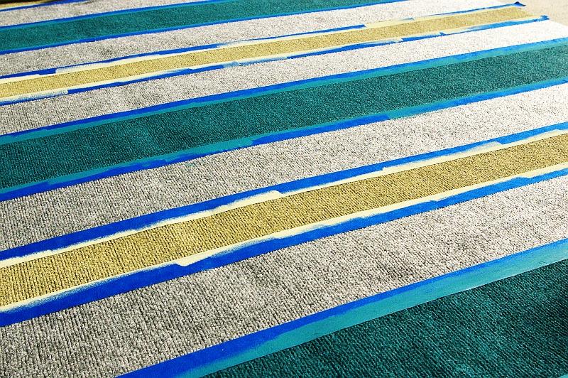DIY outdoor painted rug