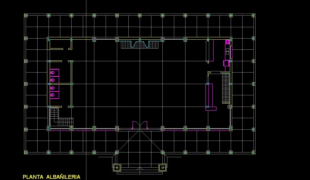 Sal n de fiestas planos arquitecto roque e paulino for Planos de salones