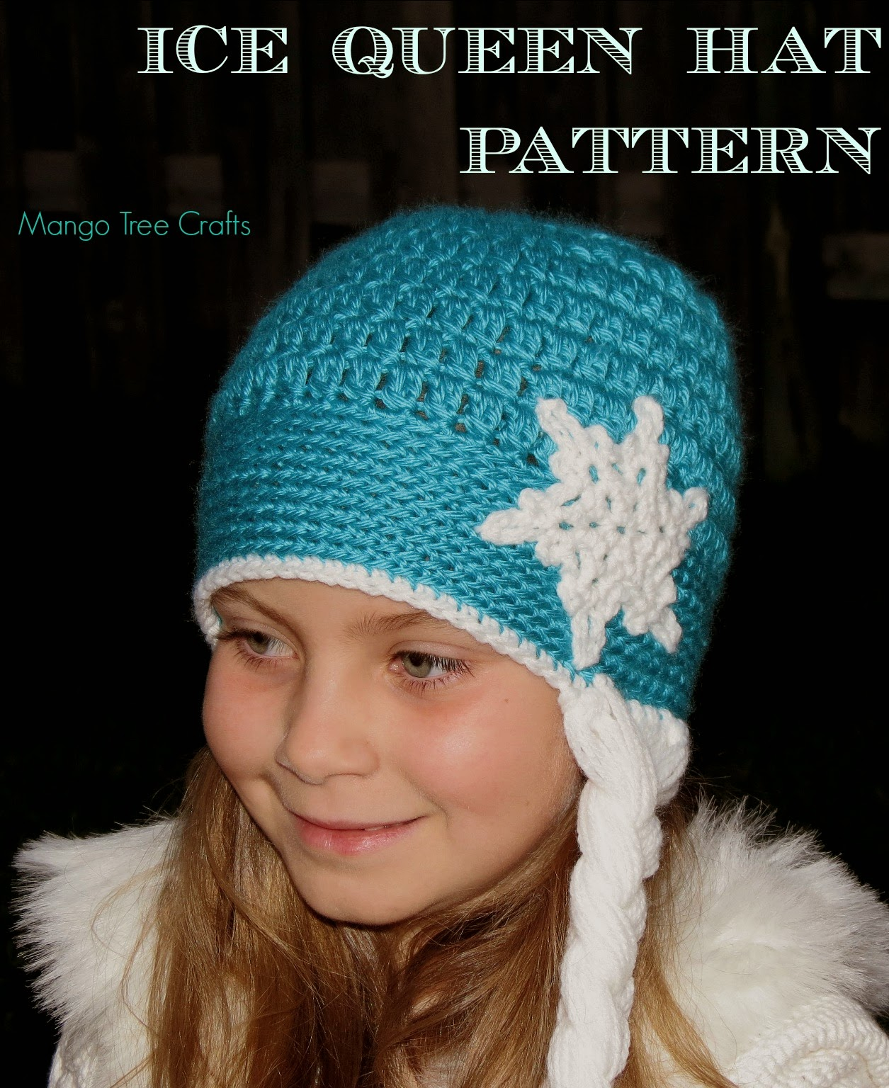 Free Crochet Pattern Frozen Elsa Hat : Mango Tree Crafts: Ice Queen Crochet Hat Pattern