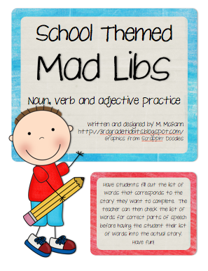 This is an image of Divine 4th Grade Mad Libs