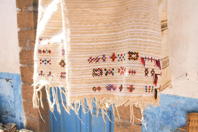 Tapis brodé maroc
