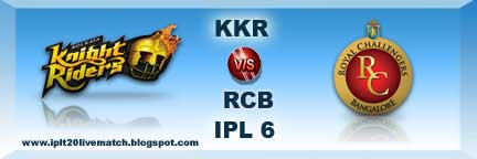 IPL 6 KKR vs RCB Full Scorecards and Highlight Match