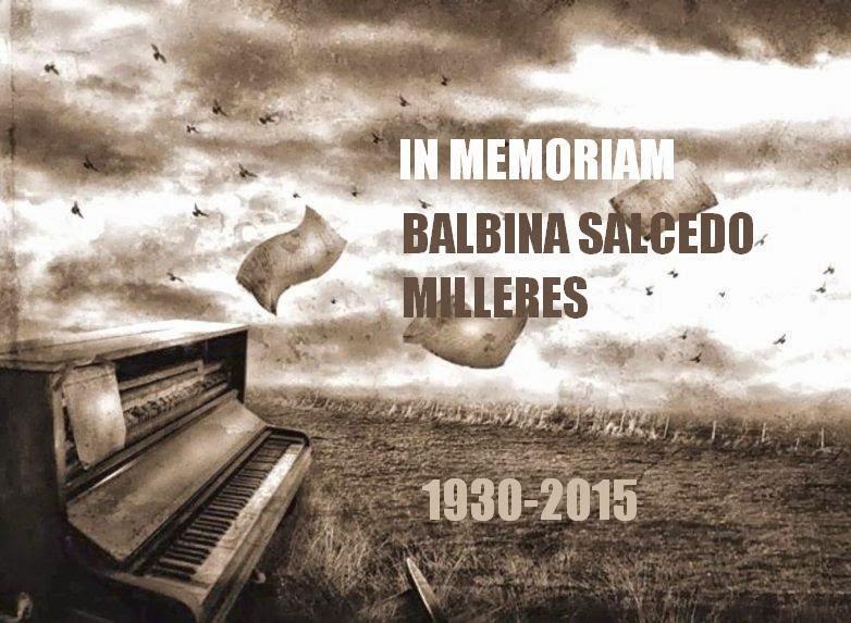 Diego Sánchez Haase: In memoriam Balbina Salcedo Milleres (1930-2015)