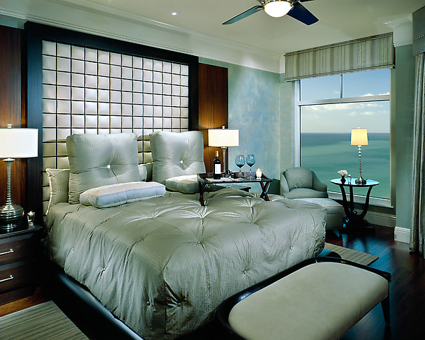 Romantic Blue Master Bedroom Decorating Ideas