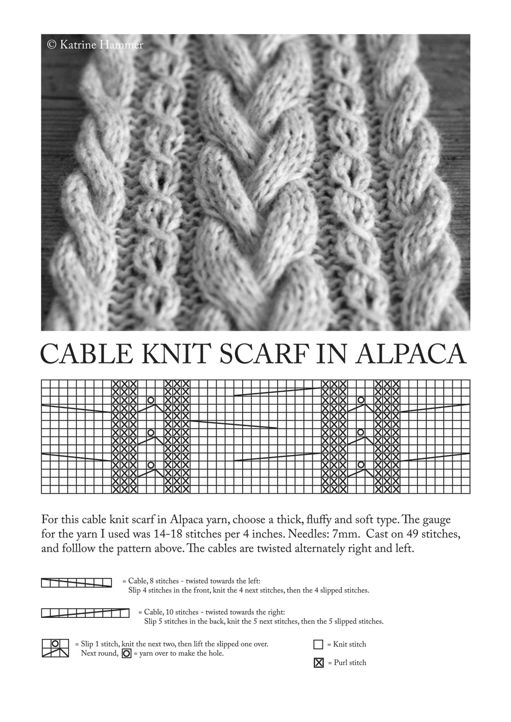 Cable Knit Scarf Pattern : KnittyBliss: March 2011