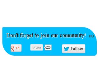 scrolling social sharing widget