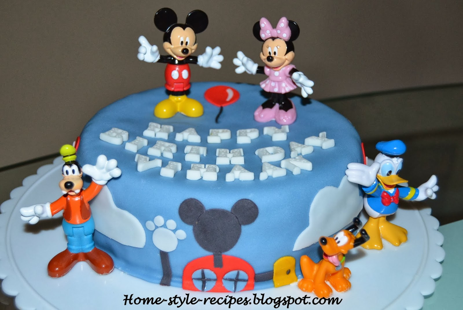 This Mickey Mouse Birthday Cake Is Designed For A 1 Year Old Boy Vihaan Who Loves His Friends