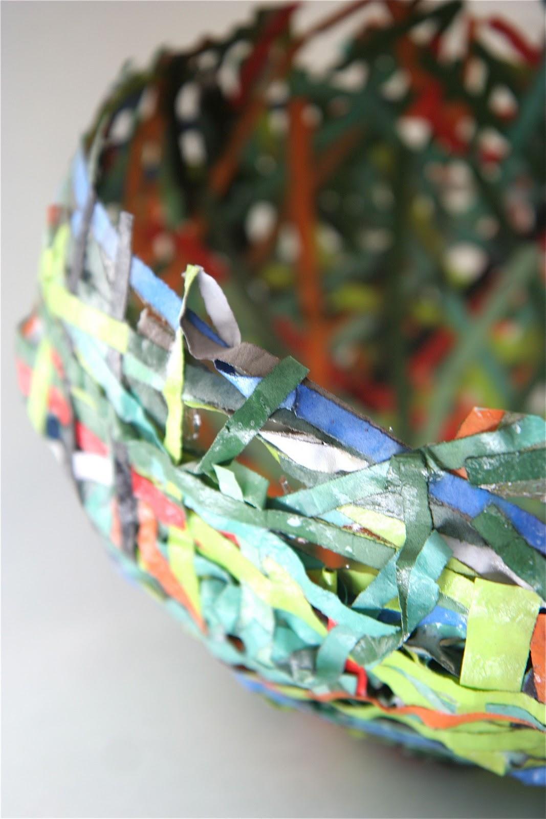 Splish splash splatter paper mache bowls for Paper mache art and craft