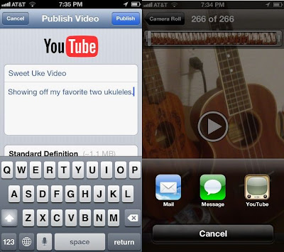 Directly upload videos from iPhone or iPad