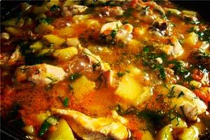 Рецепт как приготовить курицу с овощами